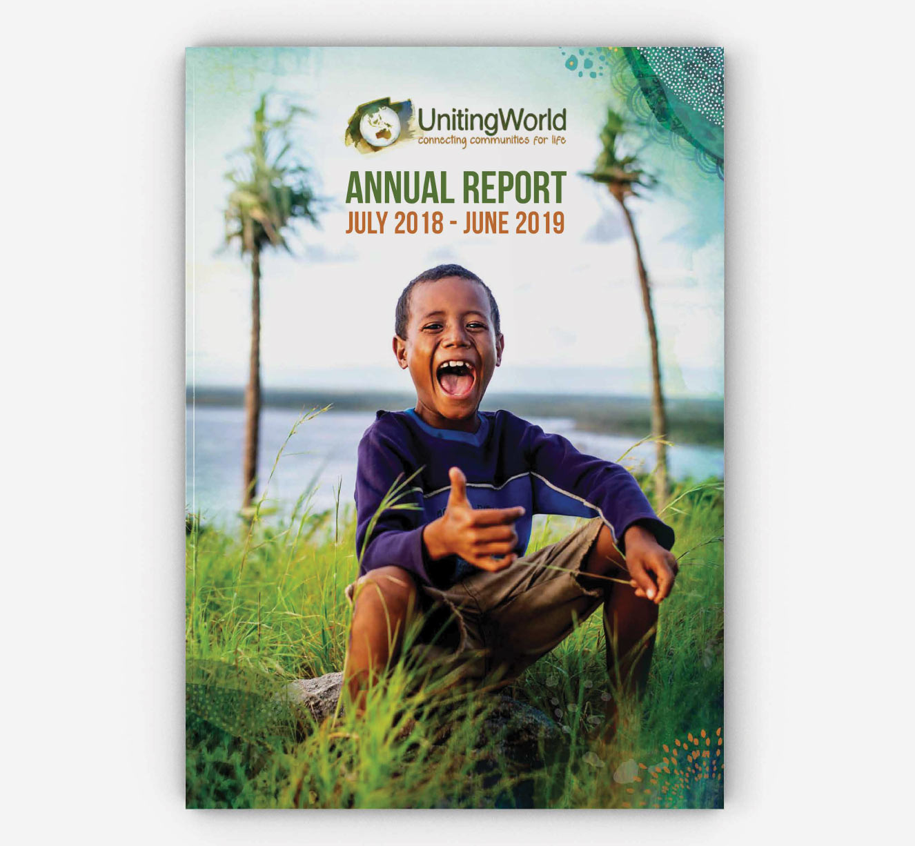 Annual Report design for Uniting World