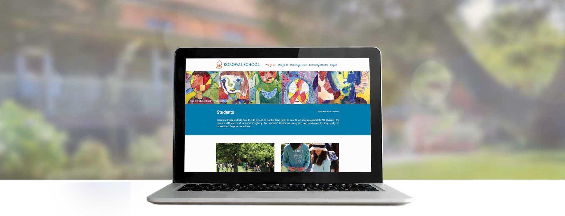 Korowal School website design