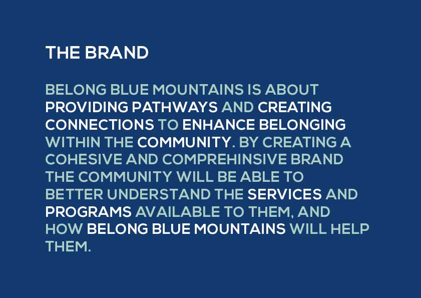 Excerpt from Belong Blue Mountains style guide