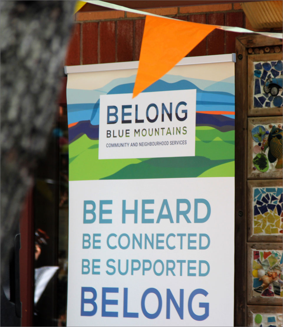 Banner design for Belong Blue Mountains