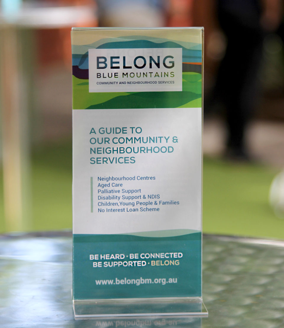 Flyer Design for Belong Blue Mountains
