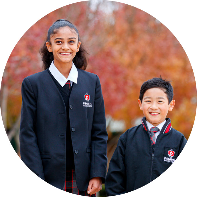 Two children from Penrith Anglican College