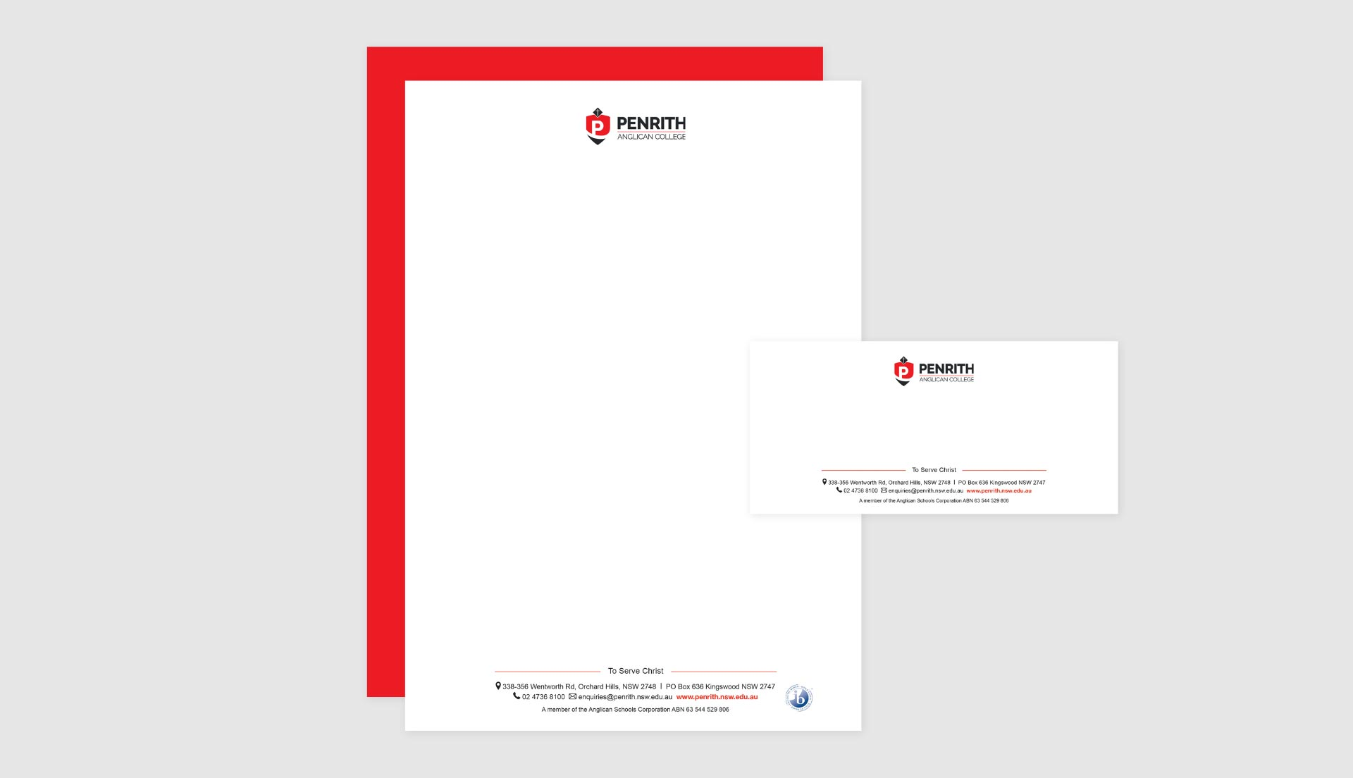 Penrith Anglican College stationary design