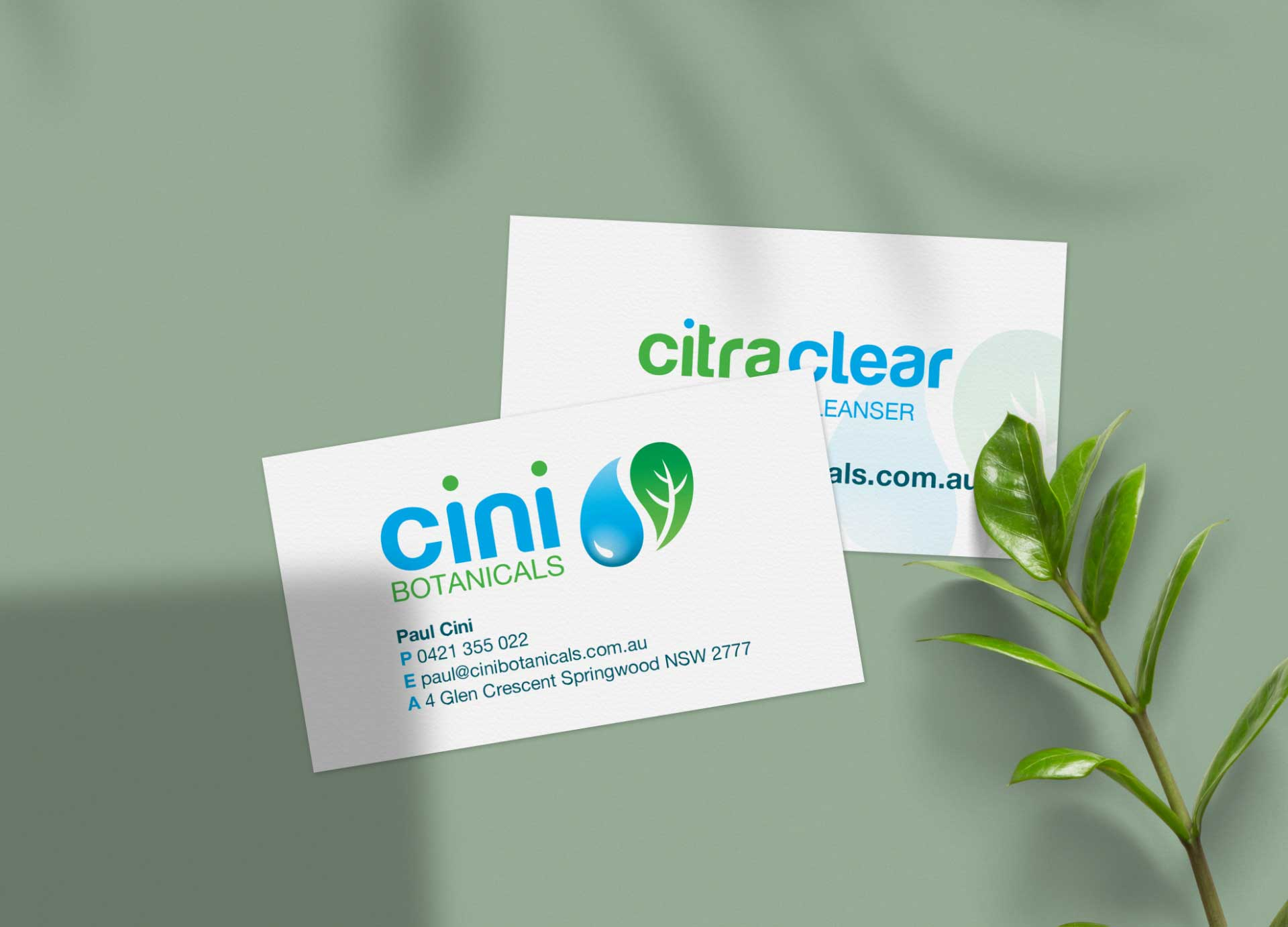 Cini Botanicals business cards